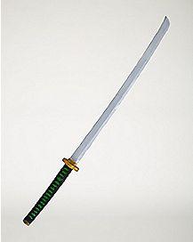 Black and Green Ninja Katana Sword