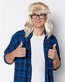 Garth Alger Wig and Glasses - Saturday Night Live