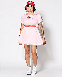 Adult Rockford Peaches Plus Size Costume -  A League of Their Own