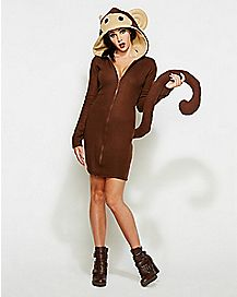 Adult Hooded Monkey Dress Costume