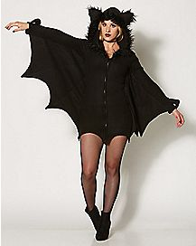 Adult Bat Hooded Dress Costume