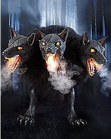 2.5 Ft Cerberus Three Headed Dog Animatronics - Decorations
