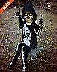 3 Ft Swinging Lil Skelly Bones Animatronics - Decorations
