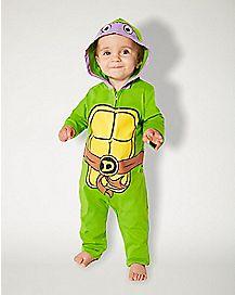 Baby Donatello Coveralls Costume - Teenage Mutant Ninja Turtles