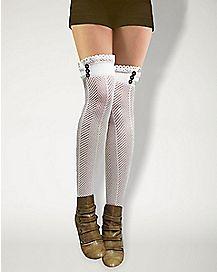 Crochet Steampunk Thigh High Stockings