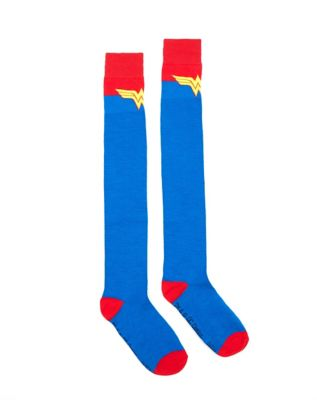 de36fcc6535 Boot Wonder Woman Over the Knee Socks - DC Comics - Spencer s
