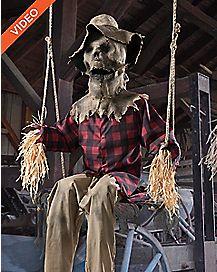 6 Ft Swinging Scarecrow Animatronics - Decorations