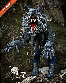 4 Ft Howling Werewolf Animatronics - Decorations