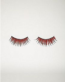 Red Faux Eyelashes