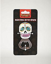 White Sugar Skull Bottle Opener