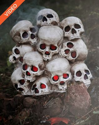 1.4 Ft Fogging Skull Pile - Decorations by Spencer's