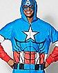 Adult Hooded Captain America Pajama Costume - Marvel