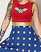 Adult Wonder Woman Scuba Dress - DC Comics