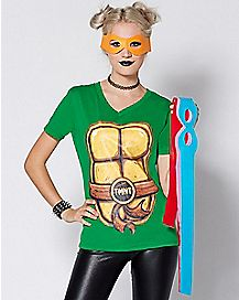 Turtle T Shirt with Mask - TMNT