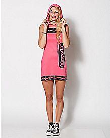 Adult Razzmatazz Pink Crayon Costume - Crayola