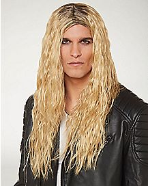 Blonde Glam Metal Wig
