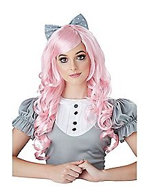 Pink Curls Doll Wig