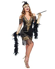 adult swanky flapper costume