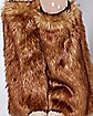 Brown Deer Faux Fur Leg Warmers