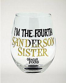 Fourth Sanderson Sister Stemless Glass 22 oz. - Hocus Pocus