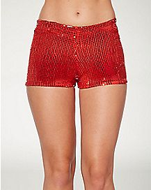 Adult Red Sequin Shorts