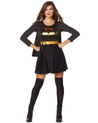 Adult Black and Gold Batgirl Dress - DC Comics & Adult Batgirl Costume - DC Comics - Spenceru0027s