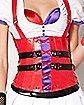 Adult Harley Quinn Nurse Corset - DC Comics