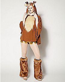 Adult Faux Fur Deer Poncho