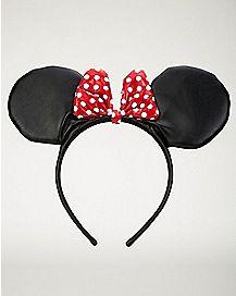 Faux Leather Minnie Headband - Disney