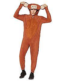 Adult Monkey Pajama Costume