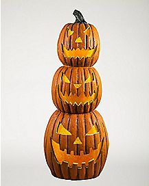 2.5 Ft Light Up Pumpkin Stack - Decorations