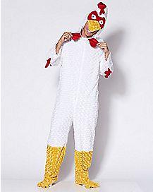 Adult Chicken One Piece Costume