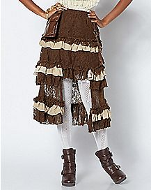 Tiered Lace Steampunk Skirt