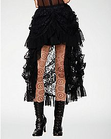 Black Lace Steampunk Skirt