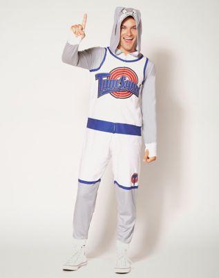Adult Space Jam Bugs Bunny Pajama Costume Spencers