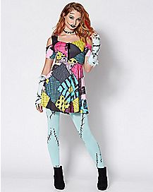 Adult Sally Dress Costume - The Nightmare Before Christmas - Spencer s ab09d58f0