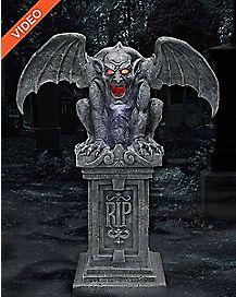 3 Ft Sinister Gothic Fogging Gargoyle – Decorations