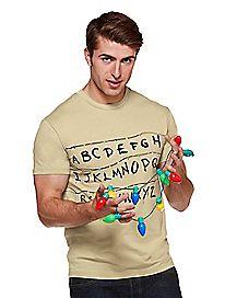 Adult Alphabet Wall T Shirt - Stranger Things