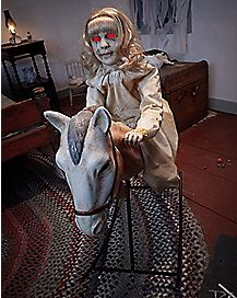 3 Ft Rocking Horse Dolly Animatronics - Decorations