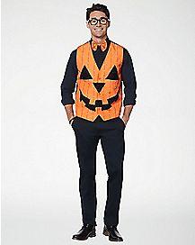 Light Up Pumpkin Vest