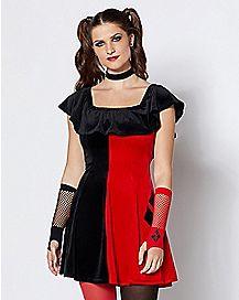 Adult Velvet Harley Quinn Dress – DC Comics