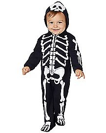 Baby Skeleton One Piece Costume
