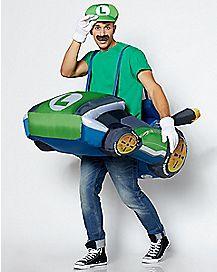 Adult Luigi Kart Inflatable Costume - Mario Kart
