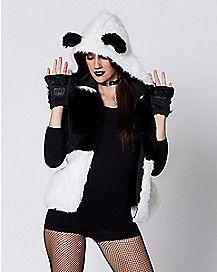 Faux Fur Panda Vest