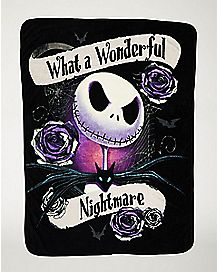 Wonderful Nightmare Fleece Blanket - The Nightmare Before Christmas