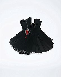 Pleated Vampire Neck Ruffle
