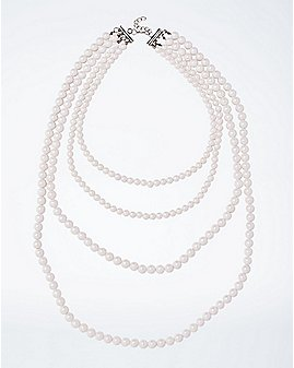 Faux Pearl Mermaid Necklace
