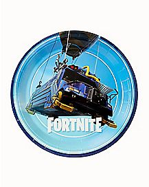 Battle Bus Party Plates 8 Pack - Fortnite