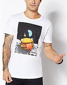 Adult Space Durrr Burger T Shirt - Fortnite