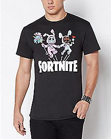 Adult Bunny Brawler and Rabbit Raider T Shirt - Fortnite